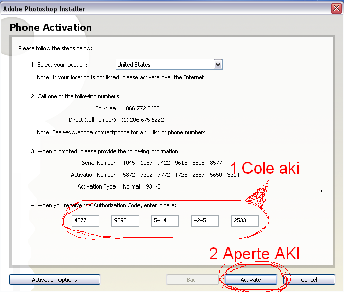 Offline Activation Adobe